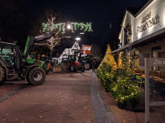 Protesterende boeren bij Sterrebosch in Wijchen.