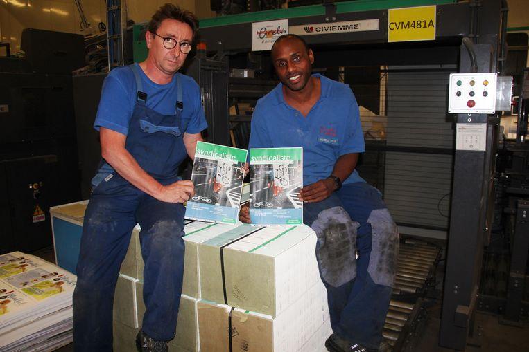 Ironisch genoeg was Le Syndicaliste het laatste tijdschrift dat donderdag bij Corelio Printing van de band liep.