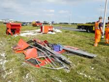Aanhanger geschaard: puinhoop op knooppunt A1 en A50 bij Beekbergen