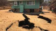 Hallucinante beelden: woning dreigt weg te zakken in aardscheuren op Hawaï