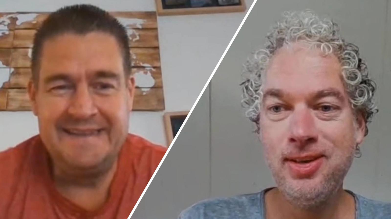 Clubwatchers Dennis Arentsen en Vincent de Vries.