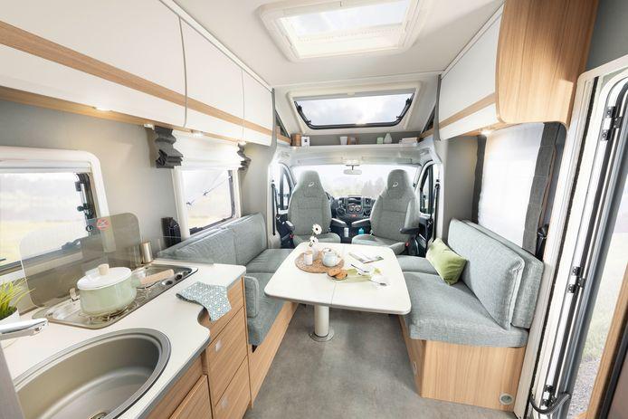 De moderne kampeerauto is van alle gemakken voorzien