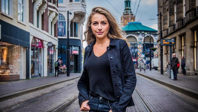 Shelly Sterk in Den Haag.