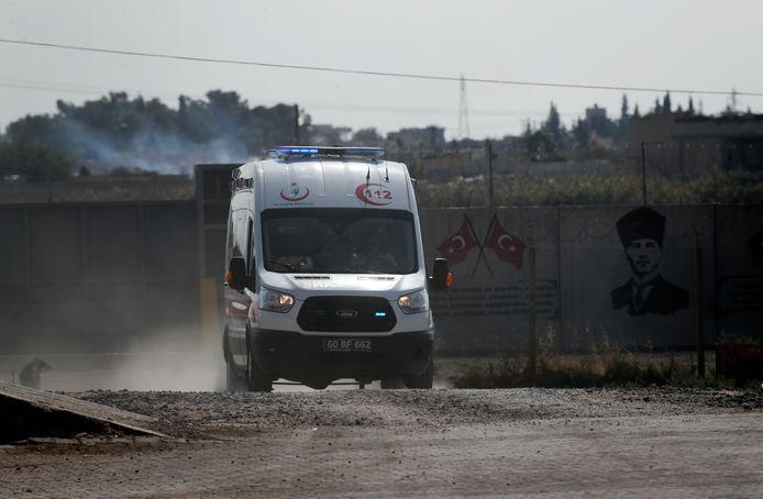 Une ambulance Tell Abyad, en Syrie.