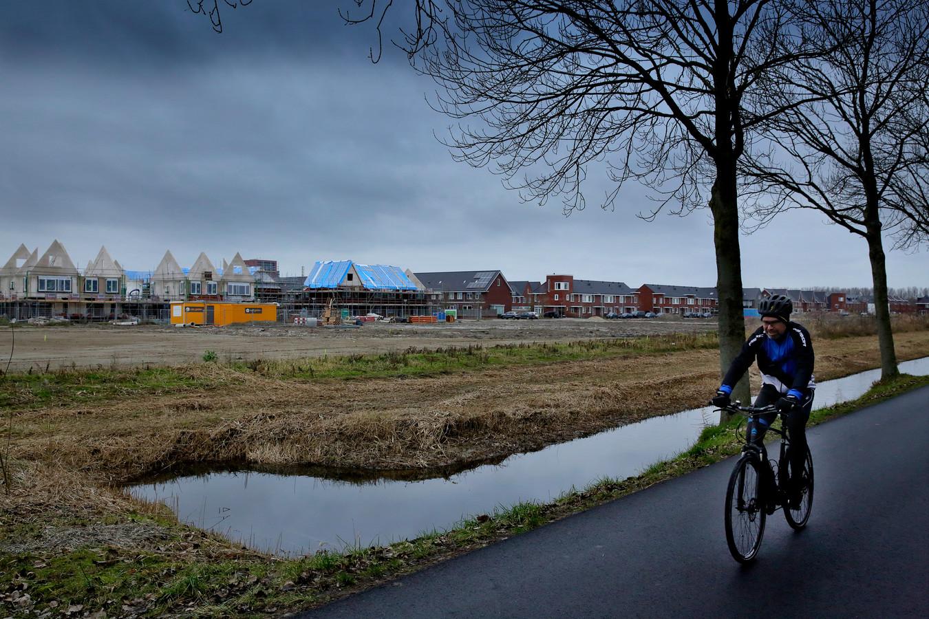 De wijk Wilgenwende in aanbouw.