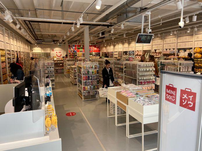 De Utrechtse vestiging van Miniso op Hoog Catharijne was de eerste in Nederland, in Eindhoven opent zaterdag de tweede.
