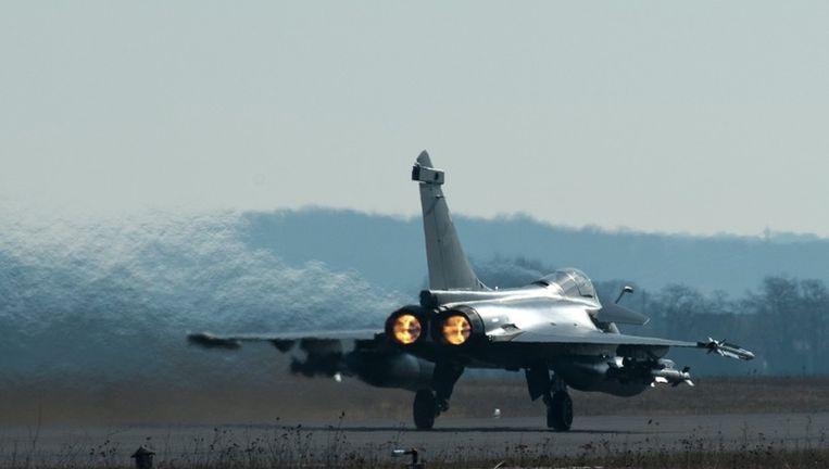 Een Frans Rafele-gevechtsvliegtuig. Beeld epa