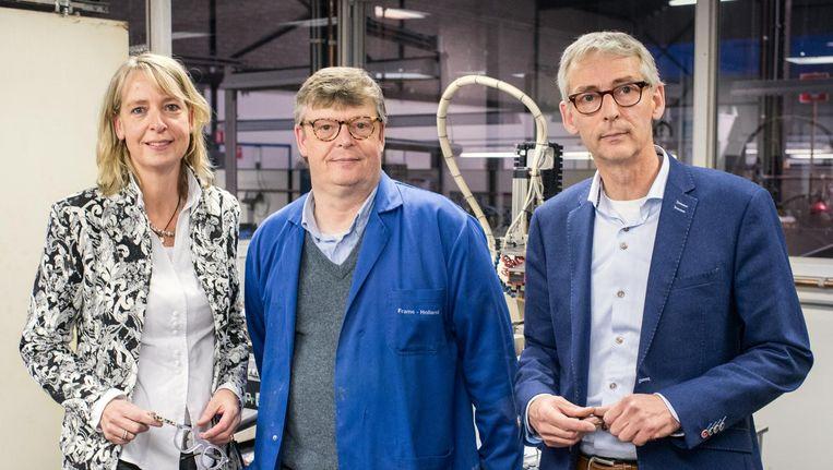 De directie van Frame Holland: Saskia, Hans en Menno Borsboom. Beeld Foto Simon Lenskens