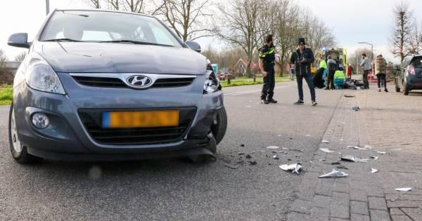 Motorrijder gewond na aanrijding met automobilist in Giessen.