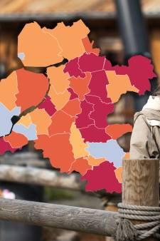 KAART   Relatief veel nieuwe besmettingen in Staphorst, forse daling in Flevoland