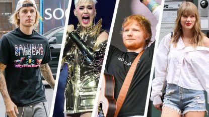 Justin Bieber, Katy Perry, Ed Sheeran en Taylor Swift veroveren plaatsje in Guiness Book