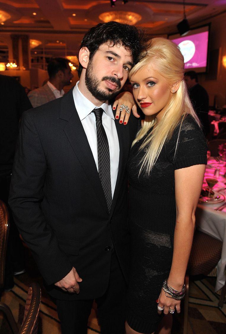 Christina Aguilera en Jordan Bratman.