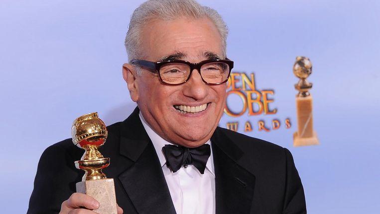 Martin Scorsese met een Golden Globe in 2012 Beeld anp