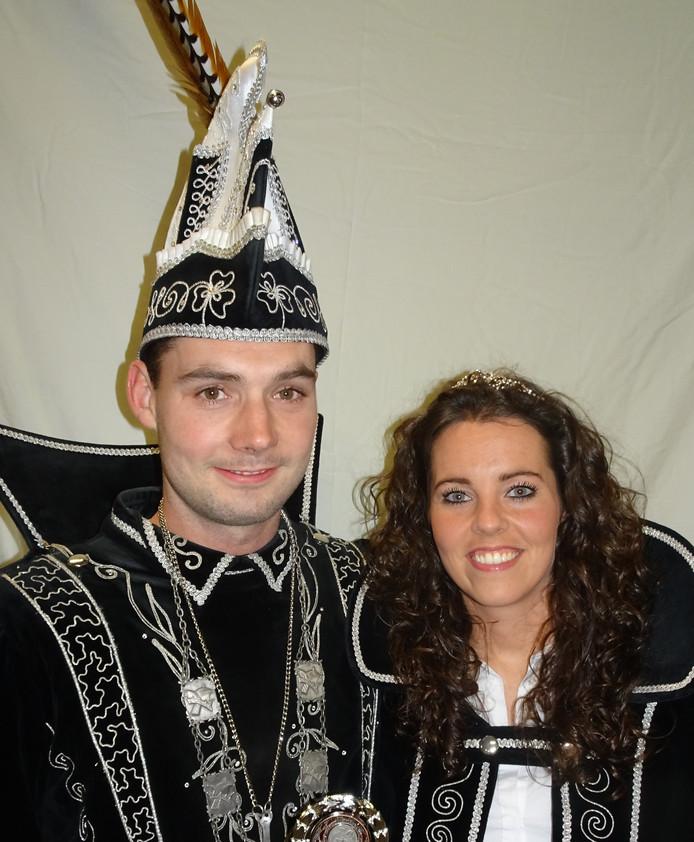 Prins Leon d'n Urste en prinse Linda van de Paplippels in  Keldonk.