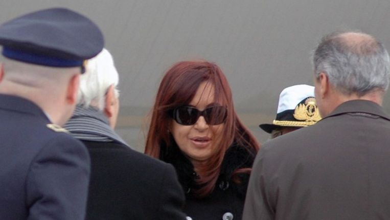 De Argentijnse president Cristina Fernández de Kirchner komt aan in Rome Beeld epa