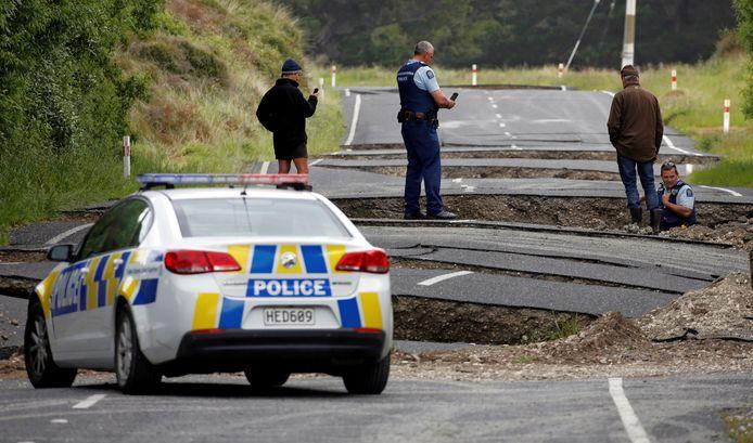 De schade na een eerdere aardbeving in Nieuw-Zeeland. (archieffoto)