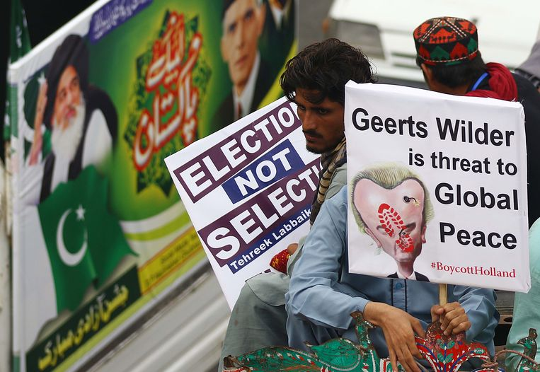 Protest in Karachi. Beeld EPA
