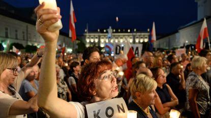 Duizenden Polen op straat tegen hervorming justitie