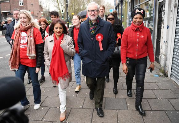 Ook Jeremy Corbyn ging vanochtend stemmen.