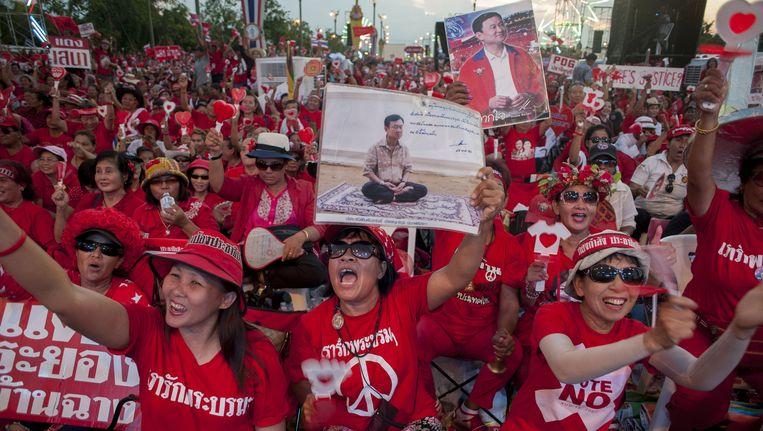 Bij betogingen in de Thaise hoofdstad Bangkok zijn twee demonstranten gewond geraakt.