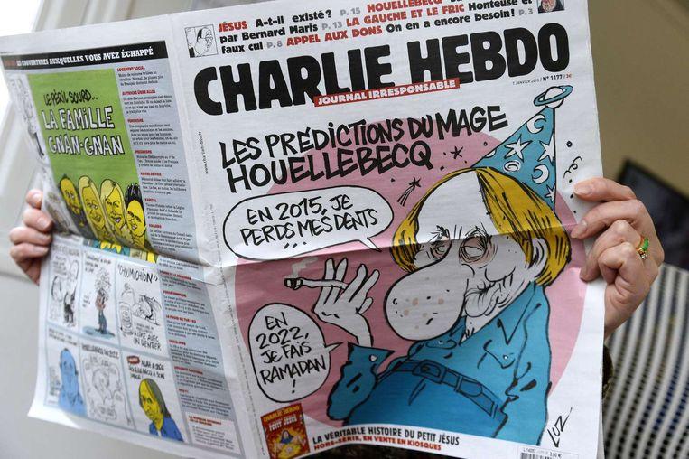 Editie Charlie Hebdo van vandaag. Beeld anp