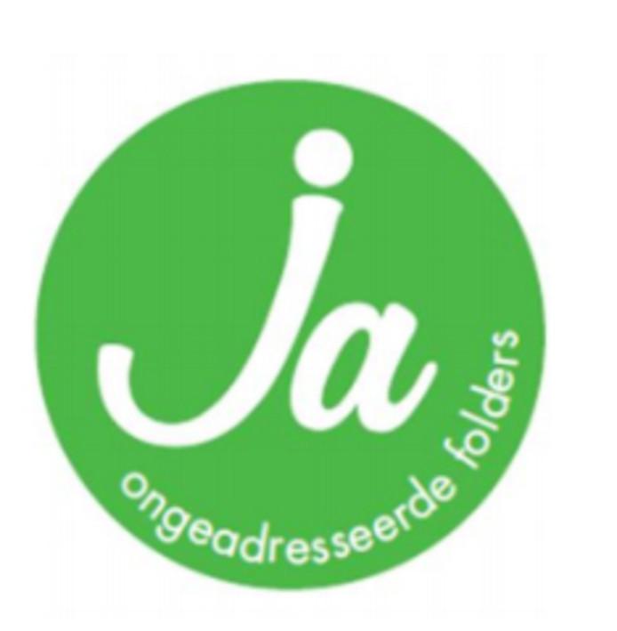 Ja-sticker voor ongeadresseerd drukwerk