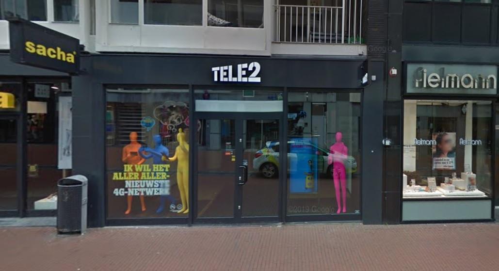 Het filiaal van Tele2 in Nijmegen