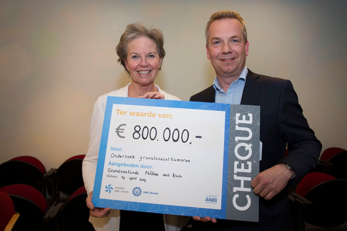 Philine van Esch en Ronald Zweemer (gynaecologisch oncoloog & behandelend arts) van het UMC.