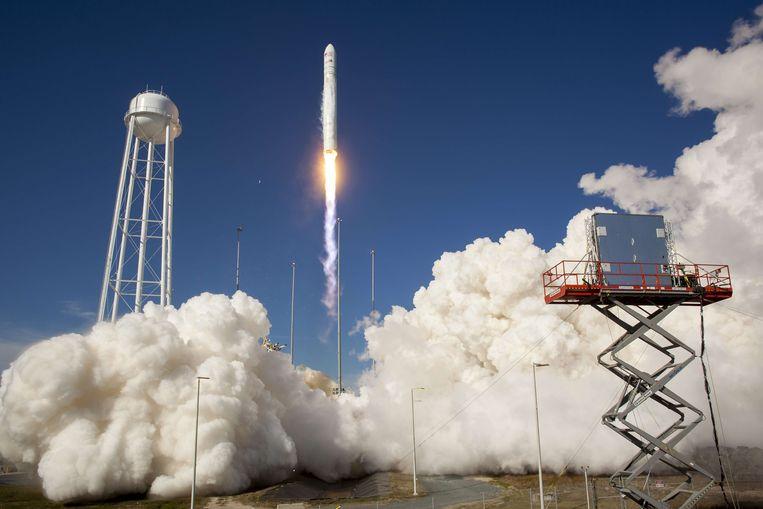 De lancering van NASA's Antares-raket in 2013 (archiefbeeld).