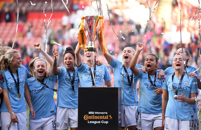 Manchester City won vorig seizoen wel de FA Women's Continental League Cup, door Arsenal in de finale te verslaan.