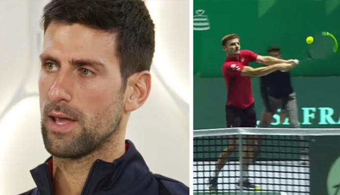 Novak Djokovic apprécie le revers à deux mains de David Goffin