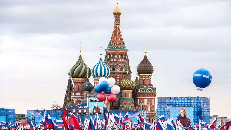 Het Rode Plein in Moskou vanmiddag. Beeld afp
