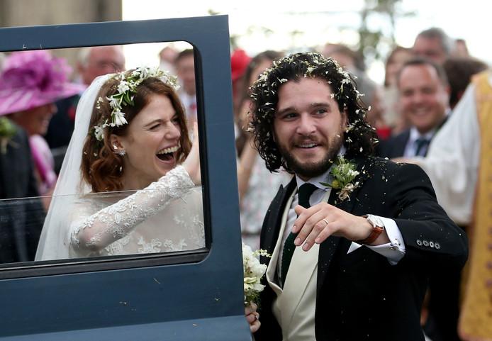 Kit en Rose na de ceremonie.