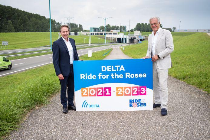 Delta-directeur Ludolf Rasterhoff (links) en voorzitter Ben de Reu van de Delta Ride For The Roses.