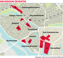 De mogelijkheden in kaart voor nieuwbouw in en rond de Deventer binnenstad.
