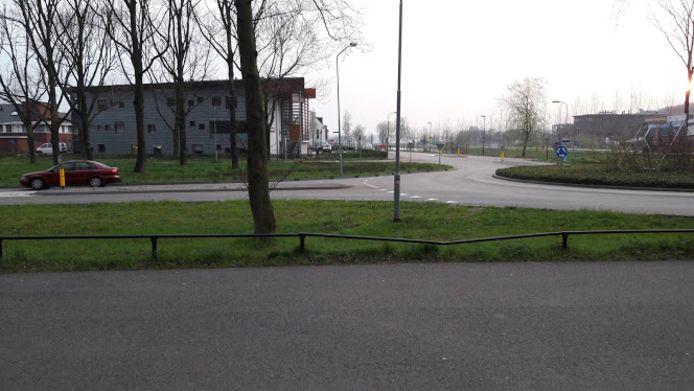 Op deze plek komt de nieuwe oversteek voor fietsers naar Medisch Centrum Kortenoord in Wageningen