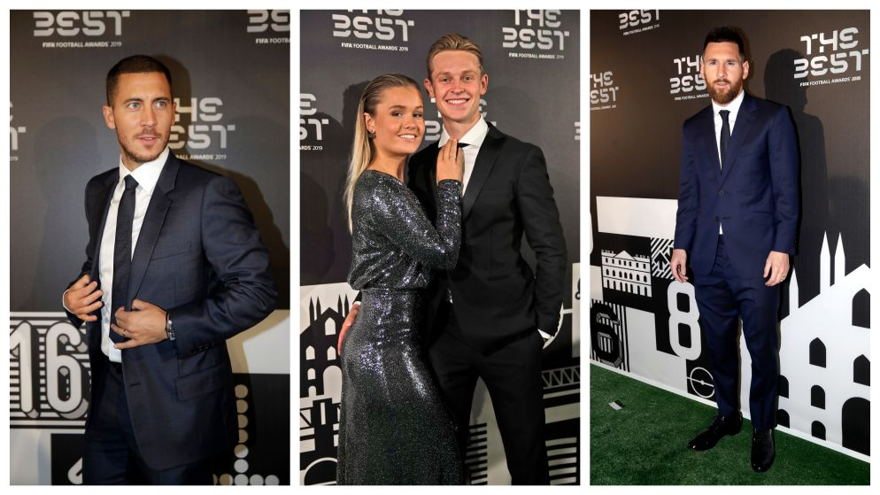 IN BEELD. Van Hazard tot Messi: internationale vedetten in stijl op FIFA-gala