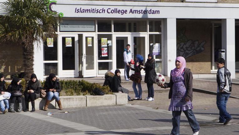 Het Islamitisch College aan de Jacob Geelstraat, dat in 2010 werd gesloten Beeld ANP