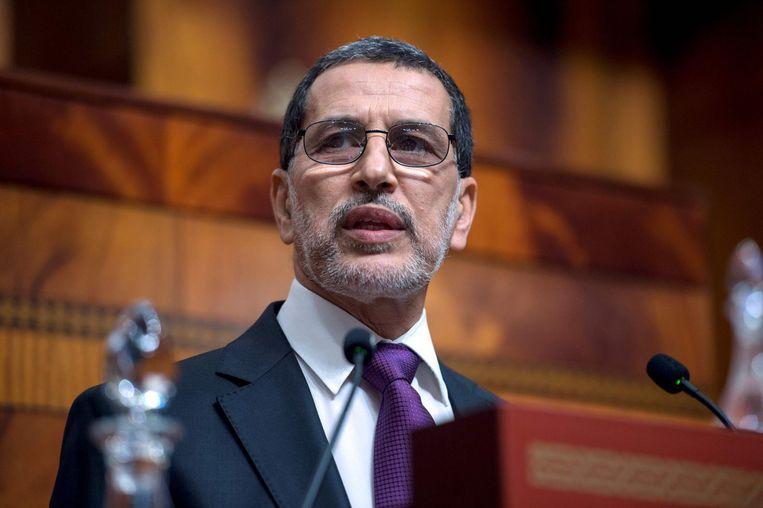 De aantredende premier Saad-Eddine El Othmani beloofde bij het uitspreken van zijn regeringsverklaring economische voorspoed. Beeld afp