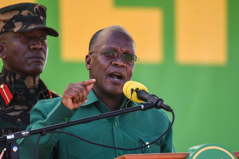 De Tanzaniaanse president John Magufuli in augustus bij het begin van zijn campagne voor een tweede termijn.