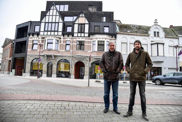 Schepen Guy De Roover (links) en Dieter Maes van Dero Construct.