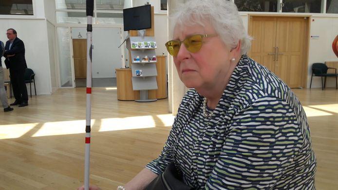 Tineke Ymtema vorig jaar in de rechtbank in Den Bosch. Ze was een van de 250 Eindhovenaren die, met rechtsbijstand van Kevin Wevers en Bert van 't Laar, hun beroep tegen het beleid voor huishoudelijke hulp van de gemeente Eindhoven wonnen.