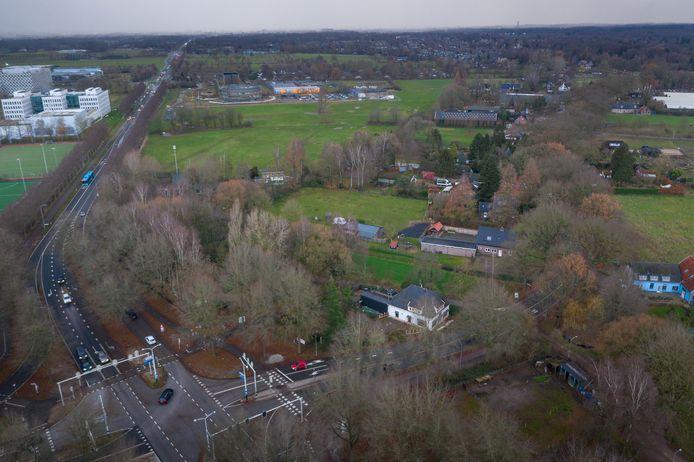 Born-Oost bij Wageningen vanuit de lucht.