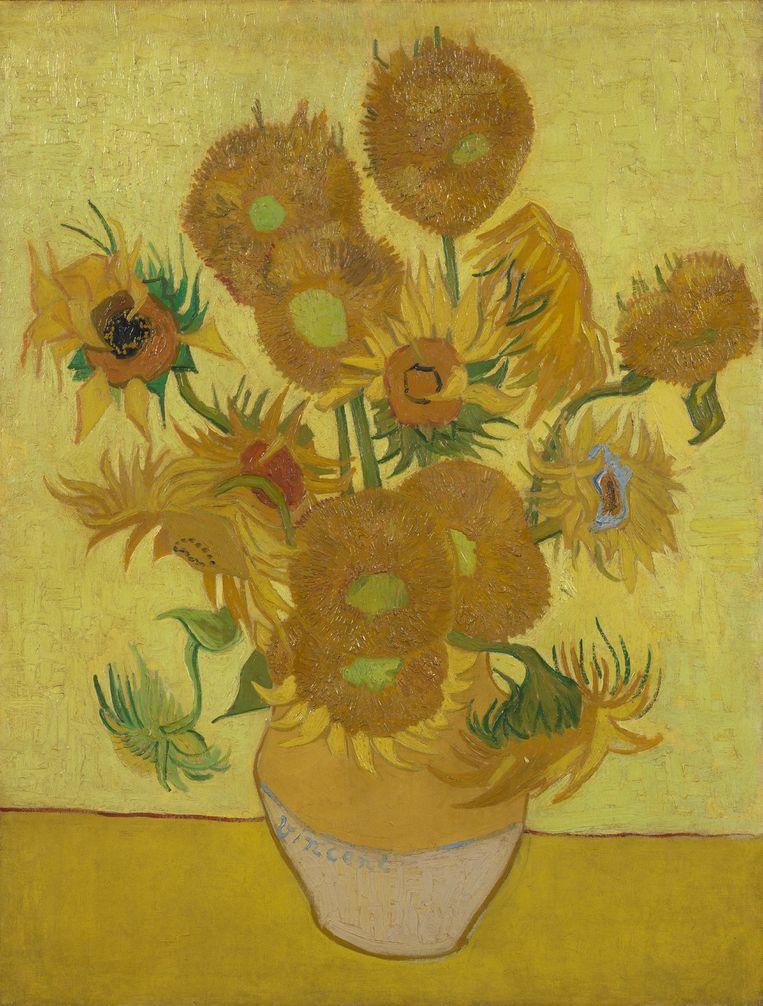 Vincent van Gogh,  Zonnebloemen, 1889, te zien in het Van Gogh Museum Amsterdam t/m 1 september. Beeld Collectie Van Gogh Musuem