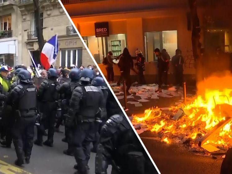 Rellen bij demonstratie tegen politiegeweld in Parijs
