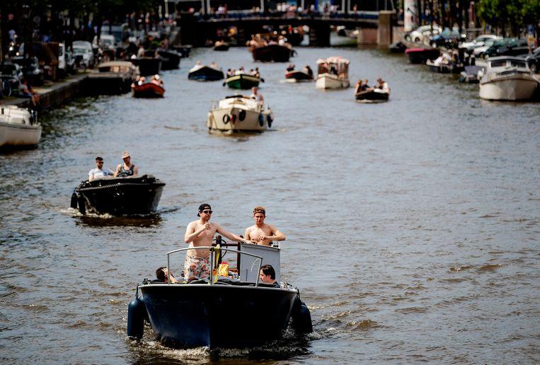 Bootjes in de Amsterdamse gracht. Beeld ANP