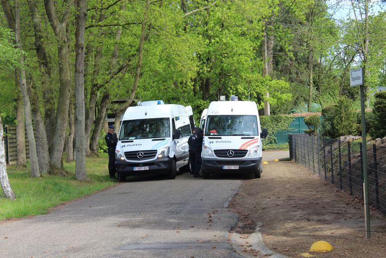 De politie kwam massaal naar Bolderberg voor een training