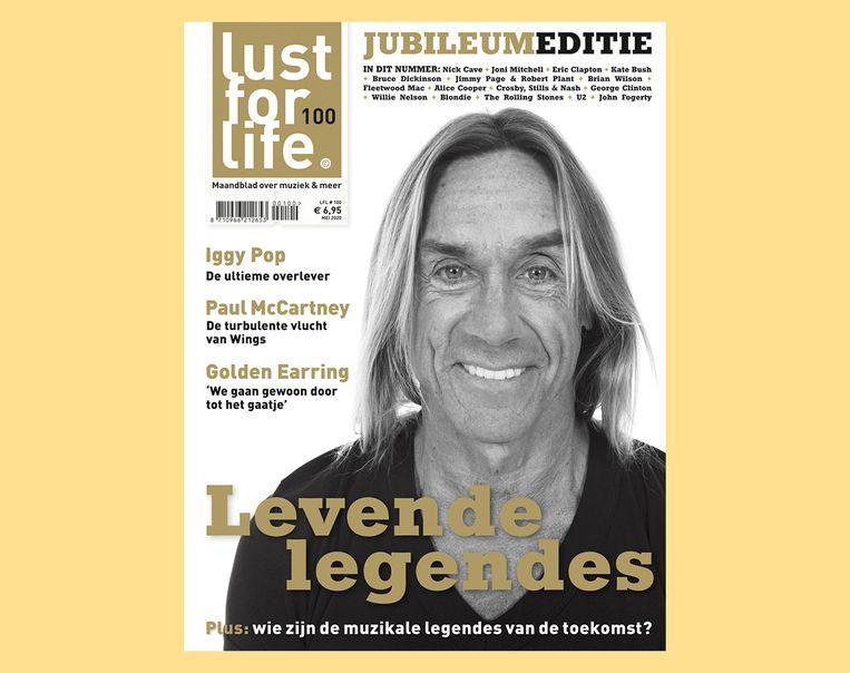 Iggy Pop op de cover van Lust for Life. Beeld
