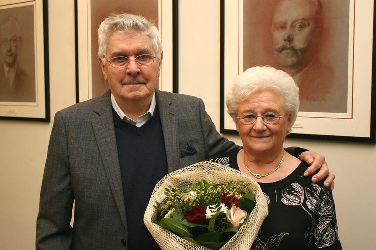 Lucien en Laura reeds 60 jaar gehuwd.
