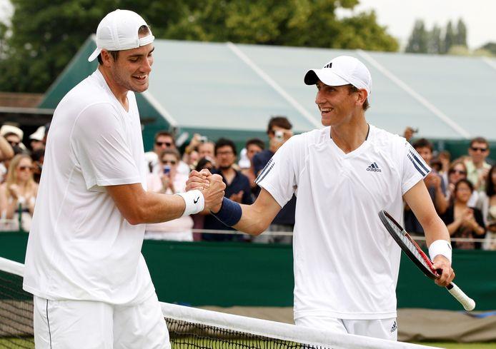 Lessivé, John Isner n'avait pas claqué un seul ace au deuxième tour de Wimbledon 2010, contre Tiemo De Bakker.
